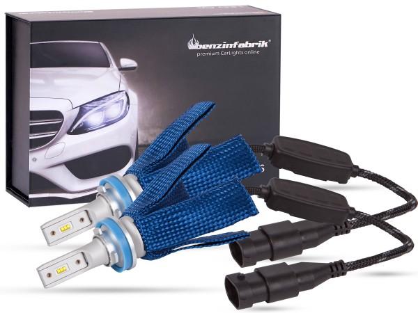 LED Abblendlichtset LEDH8, LEDH9, LEDH11, LEDH16 V2.1, weiss, BLUE striped Version