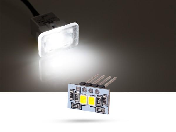 2x2835 SMD LED Modulplatine Fussraumbeleuchtung für Audi, Seat