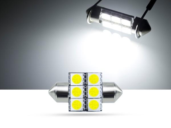 32mm 6x3-Chip SMD LED Soffitte Innenraumlicht, weiss