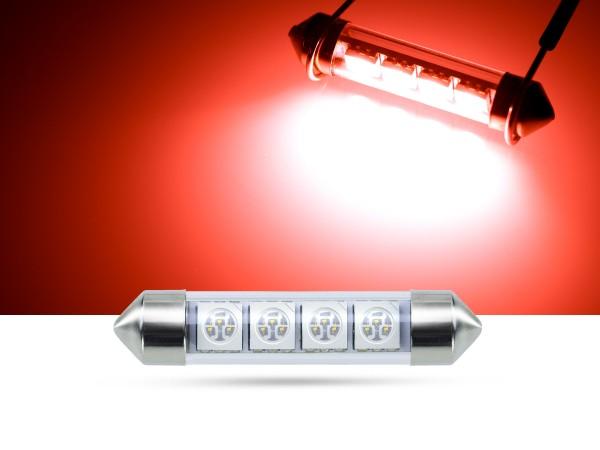 42mm 4x3-Chip SMD LED Soffitte Innenraumlicht, rot