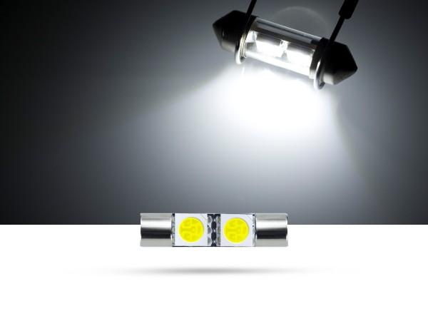 28mm 2x3-Chip SMD LED Soffitte Innenraumlicht, weiss