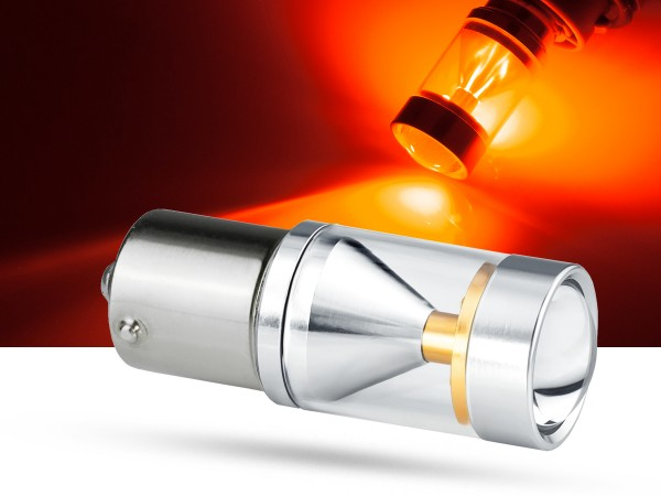 30 Watt, 6xCREE® LED, PKD V2.0, BA15s, LEDP21W, rot, offroad