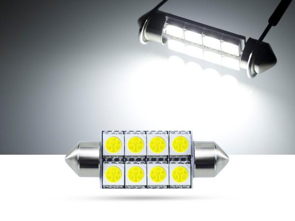 39mm 8x3-Chip SMD LED Soffitte Innenraumlicht, weiss
