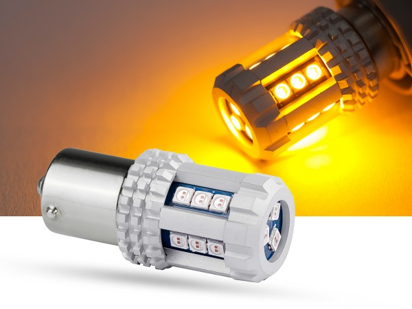 18er SMD LED Spot, BAU15s, LEDRY10W, orange, 9-32 V