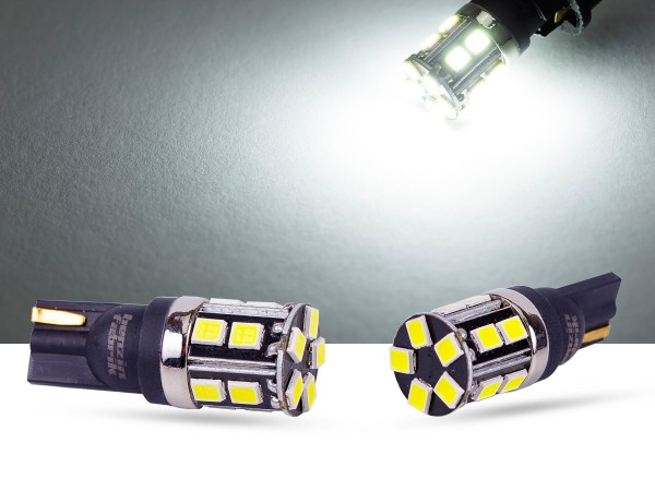 15er 2835 SMD LED, Glassockel T10 LEDW5W, LEDW16W, CAN-bus