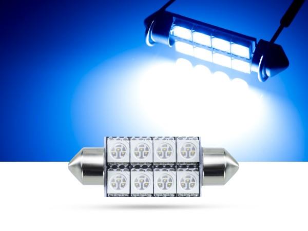 39mm 8x3-Chip SMD LED Soffitte Innenraumlicht, blau
