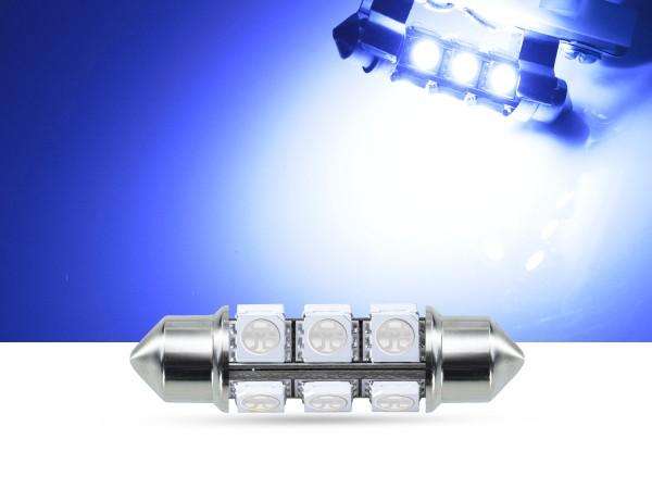 360° 42mm 3-Chip SMD LED Soffitte Innenraumlicht, blau