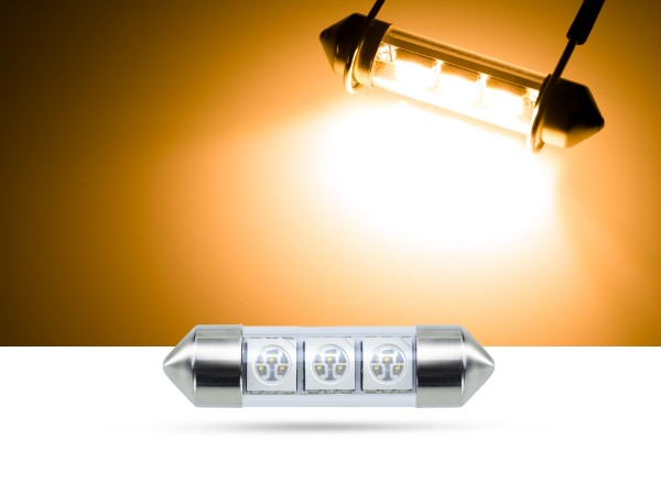 36mm 3x3-Chip SMD LED Soffitte Innenraumlicht, gelb