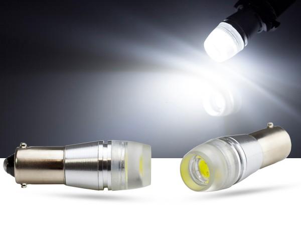 1,5 Watt LED, T4W LEDBA9s, mit Streulinse, CAN-bus, weiss, offroad