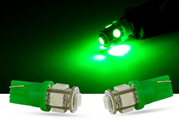 5er SMD LED Innenraumlicht, LEDW5W T10, grün