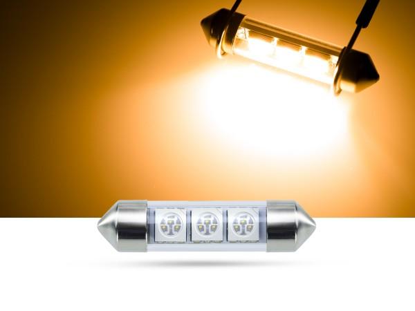 39mm 3x3-Chip SMD LED Soffitte Innenraumlicht, gelb