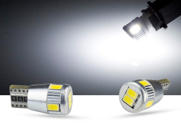 6er SMD LED, Glassockel T10 LEDW5W, CAN-bus, weiss, offroad