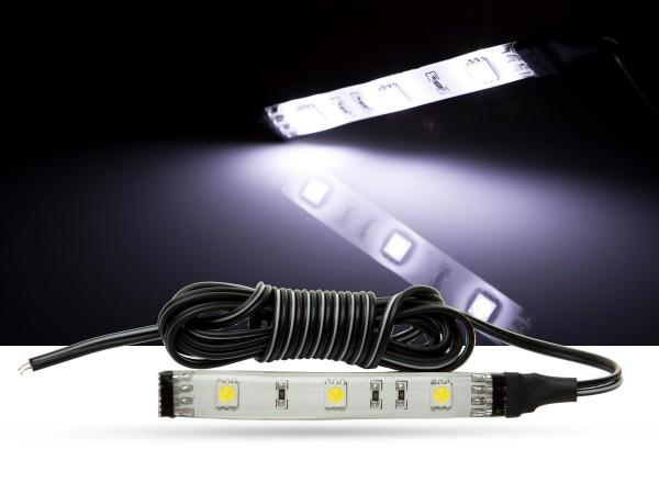 LED Stripe, 10cm, SMD LEDs, 12V, weiß, 6000K