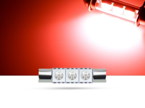 29mm 3x3-Chip SMD LED Soffitte Innenraumlicht, rot