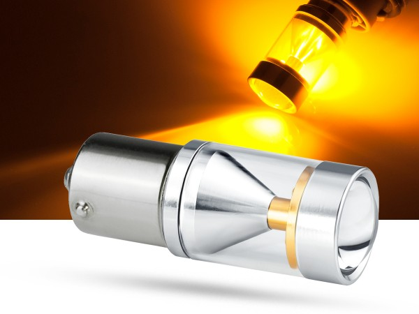 30 Watt, 6xCREE® LED, PKD V2.0, BA15s, LEDP21W, orange, offroad