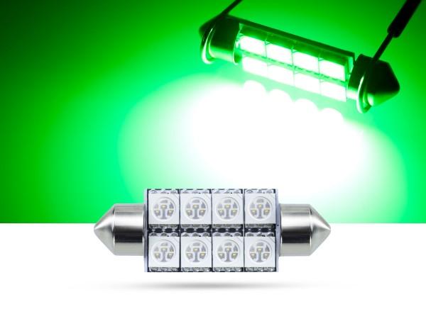 39mm 8x3-Chip SMD LED Soffitte Innenraumlicht, grün