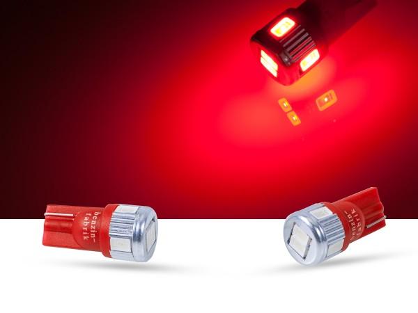 6er SMD LED, Innenraumlicht LEDW5W T10, rot