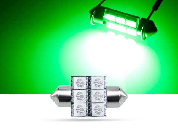 32mm 6x3-Chip SMD LED Soffitte Innenraumlicht, grün