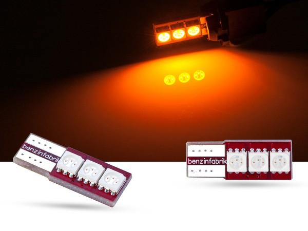 90° 3er SMD LED Innenraumlicht, CAN-bus, LEDW5W T10, gelb
