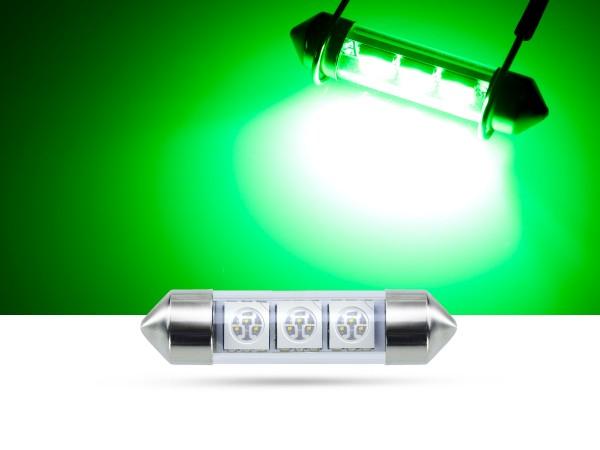 39mm 3x3-Chip SMD LED Soffitte Innenraumlicht, Grün