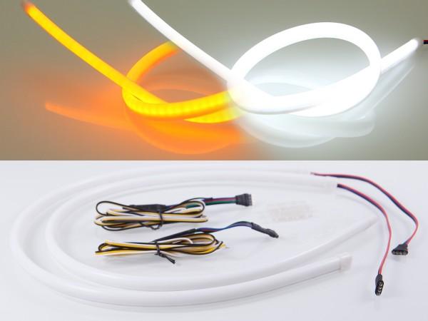 LED Stripe, 85cm, SMD LEDs, 12V, weiss, orange