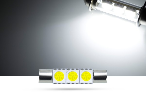 29mm 3x3-Chip SMD LED Soffitte Innenraumlicht, weiss