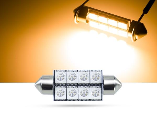 39mm 8x3-Chip SMD LED Soffitte Innenraumlicht, gelb