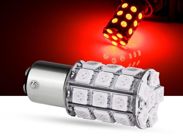 30er SMD LED Spot, BAY15d, LEDP21/5W, rot, offroad