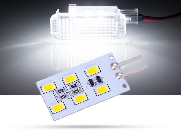 6x SMD LED Modul Fussraumplatine für VW