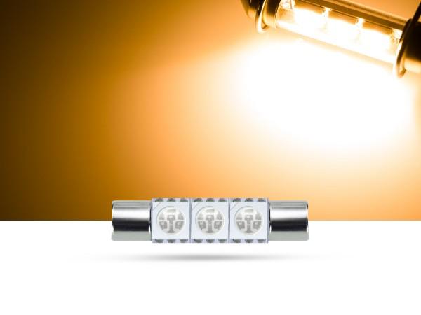 29mm 3x3-Chip SMD LED Soffitte Innenraumlicht, gelb