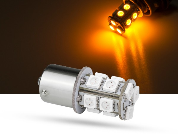 13er SMD LED Spot, BA15s, LEDR10W, orange, 9-32 V, offroad