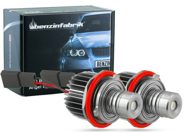 10 Watt LED Angel Eyes, Umbau-Kit, Standlicht in weiss, BMW E39 E53 E60 E61 E63 E64 E65 E66, offroad