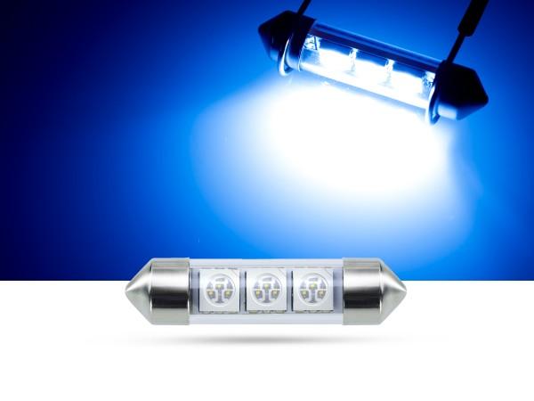 39mm 3x3-Chip SMD LED Soffitte Innenraumlicht, blau