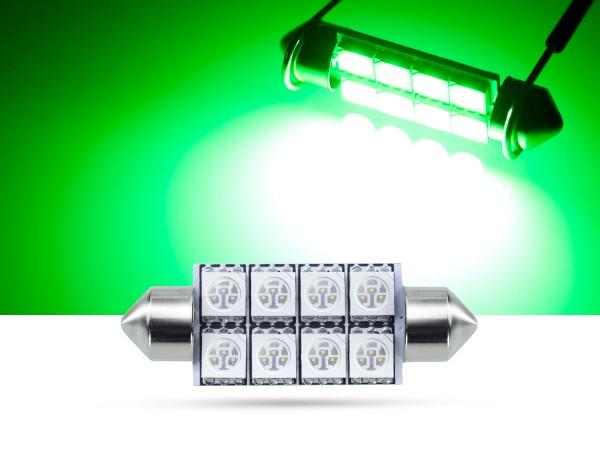 42mm 8x3-Chip SMD LED Soffitte Innenraumlicht, grün