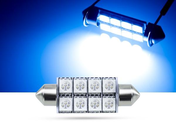 42mm 8x3-Chip SMD LED Soffitte Innenraumlicht, blau