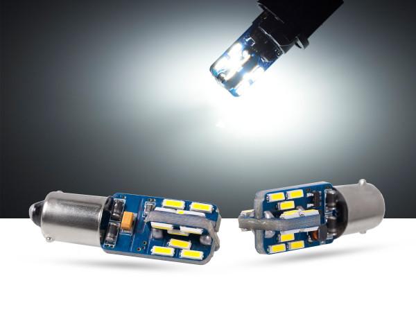 24er mini SMD LED, Metallsockel BA9s LEDT4W, CAN-bus