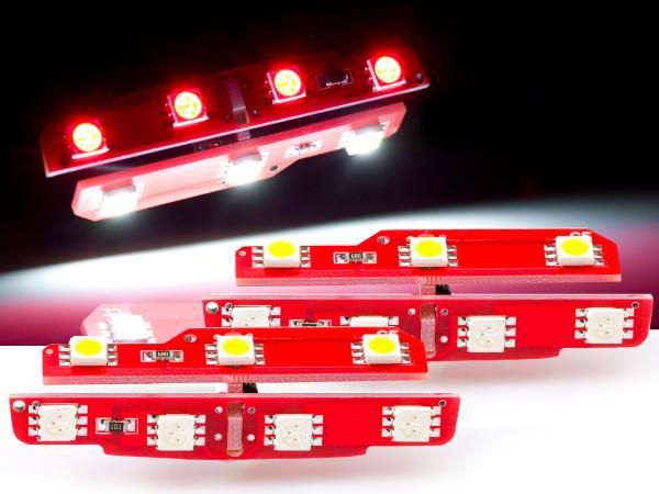 2er Set für die Ausstiegsbeleuchtung, VW, Skoda, Seat, Porsche weiss/rot