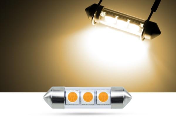 36mm 3x3-Chip SMD LED Soffitte Innenraumlicht, warmweiss