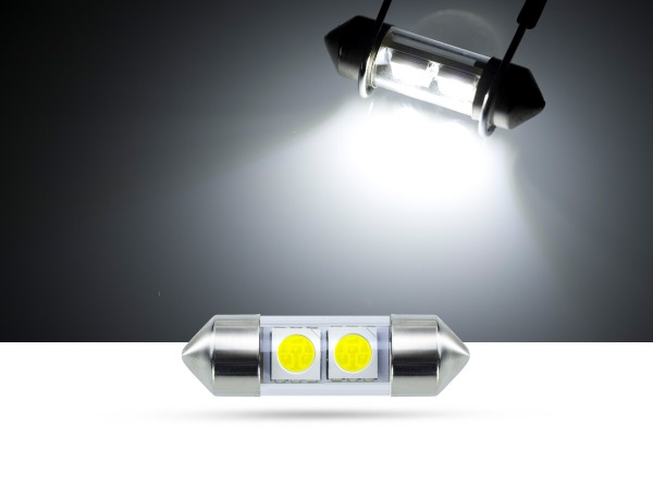 32mm 2x3-Chip SMD LED Soffitte Innenraumlicht, weiss