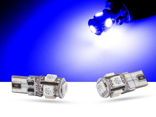 5er SMD LED Innenraumlicht, LEDW5W T10, CAN-bus, blau