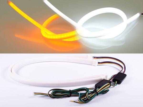 Dynamischer LED Stripe, 50cm, SMD LEDs, 12V, weiss, orange
