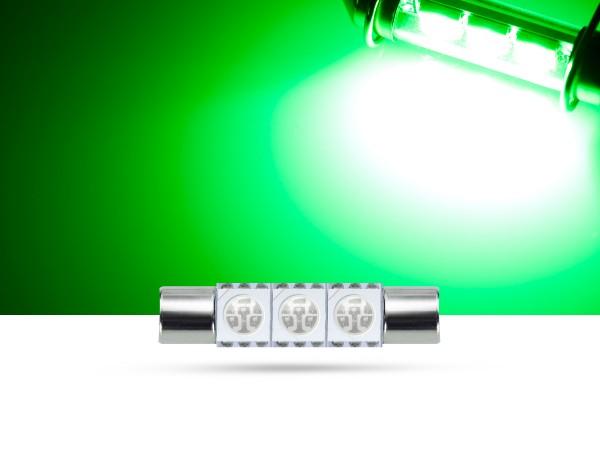 29mm 3x3-Chip SMD LED Soffitte Innenraumlicht, grün