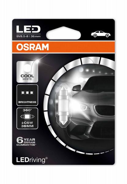 OSRAM LEDrive® 1W LED C5W Innenraumlicht, kaltweiß 6000K