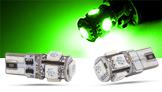 SMD LED Spots, grün