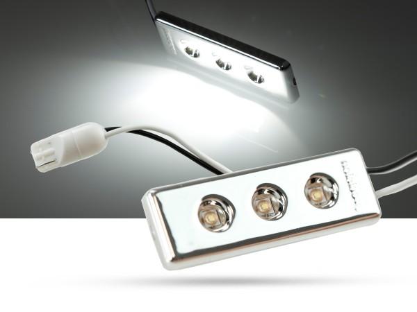 3W HP LED Modul 53x18x4mm, mit w5w T10, Innenraumlicht, 4000K, weiss