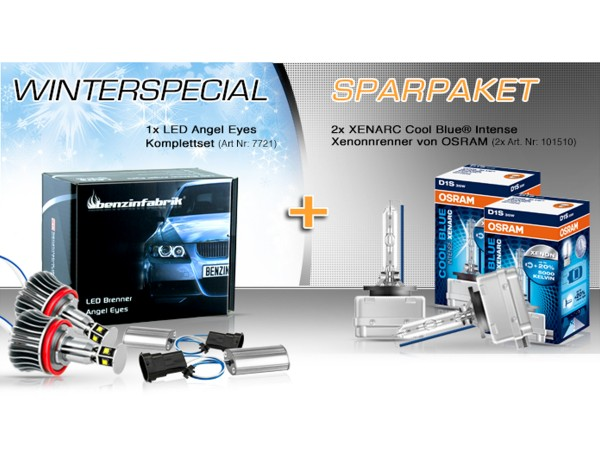 Winterspezial Sparpaket, H8 LED Angel Eyes und 2x OSRAM XENARC® CBI D1S