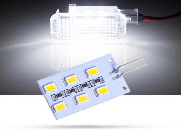 6x5630 SMD LED Modulplatine Fussraumbeleuchtung für Audi, VW, Porsche, Seat, Skoda