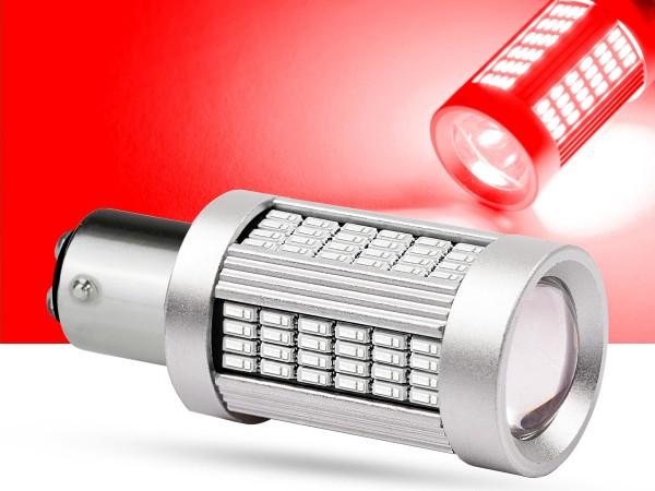 135er 4014 SMD LED BAY15d, LEDP21/5W, rot, Canbus