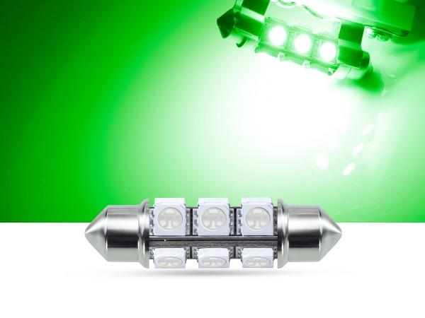 360° 42mm 3-Chip SMD LED Soffitte Innenraumlicht, grün