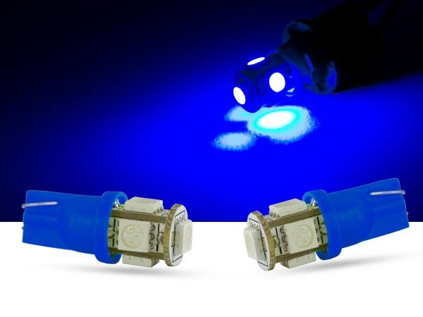 5er SMD LED Innenraumlicht, LEDW5W T10, blau